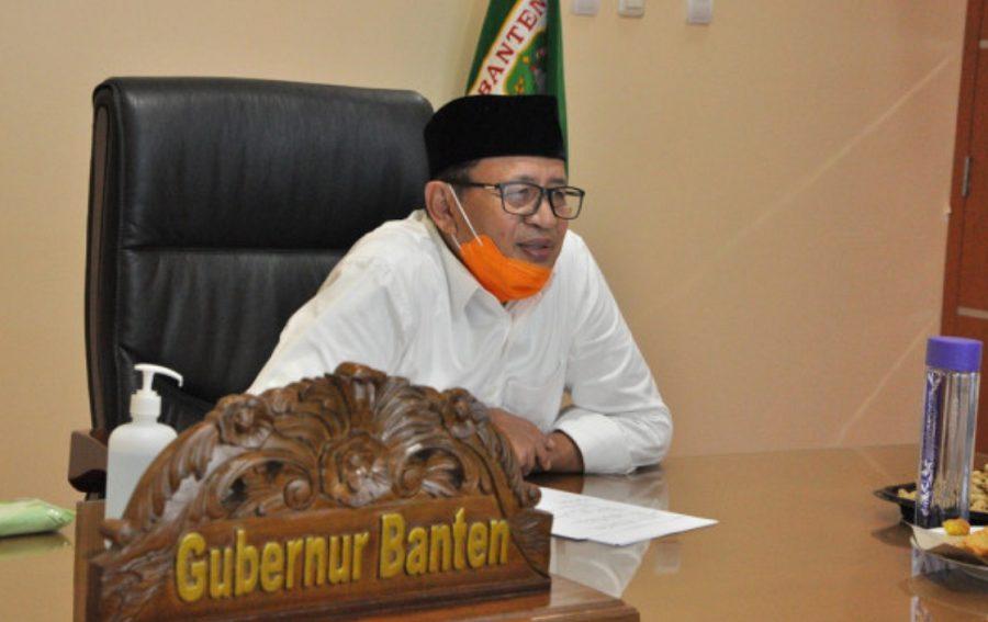 Gubernur Banten Wahidin Halim dalam telekonferensi Rapat Evaluasi PPDB Tahun Ajaran 2020 2021