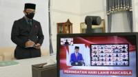 Gubernur Jawa Barat Saat melakukan upacara peringatan hari kelahiran pancasila