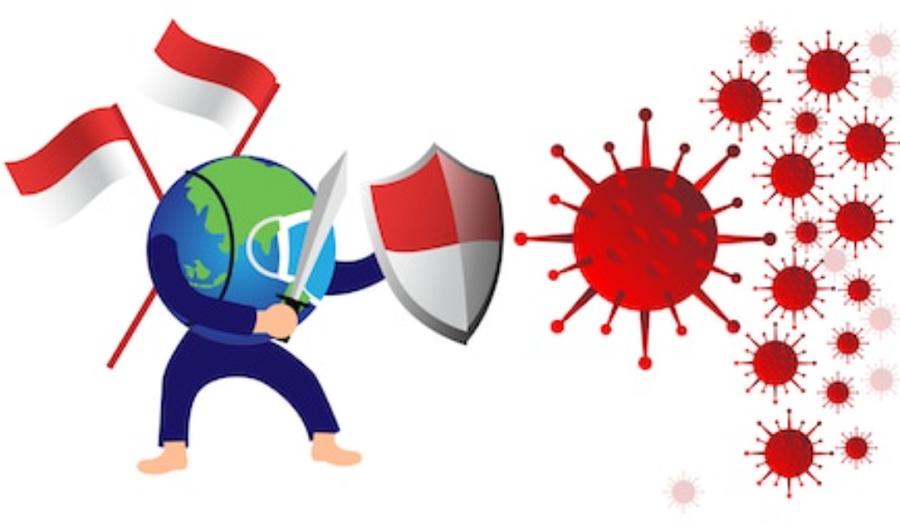 Ilustrasi Virus Corona Indonesia