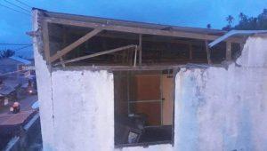 Inilah Bangunan rumah di Keunekai, Sabang yang rusak akibat gempa berkuatan 4,6 SR di Banda Aceh, Kamis 4 Juni pukul 05.27 WIB. Foto Forkom SAR Aceh.