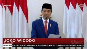 Jokowi pimpin gelaran peringatan Hari Lahir Pancasila secara online.