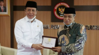 Kepala BNPT Komjen Pol Boy Rafli Ammar Ketua Umum LPOI KH Said Aqil Siraj