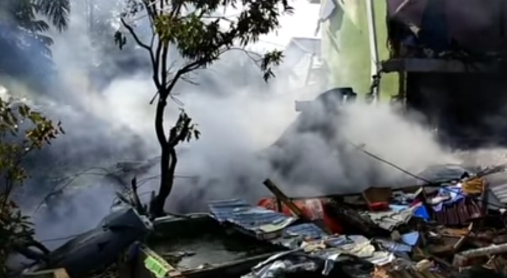 Pesawat TNI AU jatuh di Pemukiman warga Kabupaten Kampar