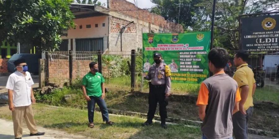 Polres Cilegon Sambangi Kampung Siaga Covid-19