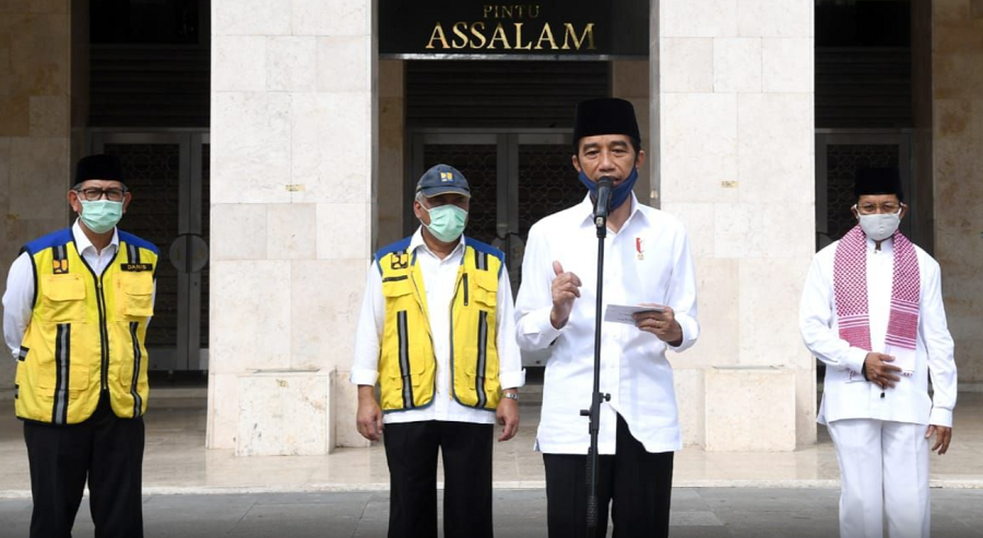 Presiden Jokowi Tinjau Kesiapan Masjid Istiqlal untuk New Normal