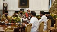 Presiden Jokowi dan Wakil Presiden Maruf Amin bertemu tokoh lintas agama di Istana Negara