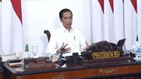 Presiden Jokowi saat memimpin rapat tentang percepatan penanganan pandemi Covid-19