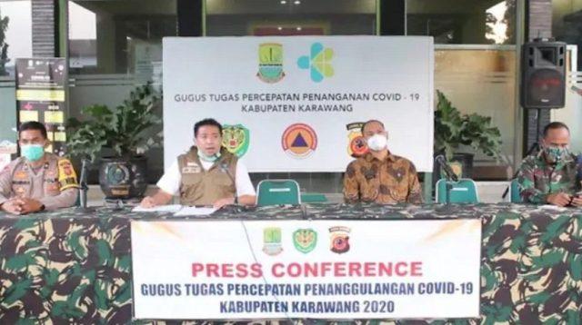 Press Conference Gugus Tugas Percepatan Penanggulangan Covid-19 Kabupaten Karawang