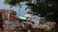 Kondisi cuaca mendung pasca hujan dengan intensitas sedang pukul 16.00 WITA di Kecamatan Masamba