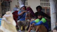 Para pengungsi yang merupakan warga terdampak banjir bandang di Kecamatan Masamba Luwu Utara