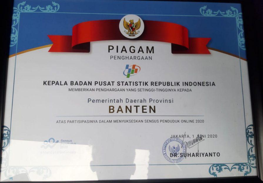 Pemprov Banten Raih Perhargaan Dari BPS
