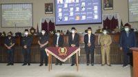 Rapat Paripurna Persetujuan Terhadap Rancangan Peraturan Daerah Usul Gubernur