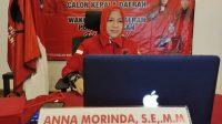 Anna Morinda Calon Walikota Metro