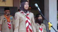 Ketua Kwartir Cabang Gerakan Pramuka Kota Metro Anna Morinda