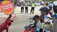 Satuan Lalu Lintas Polresta Bandarlampung lakukan Sosialisai di sejumlah objek wisata di Lampung