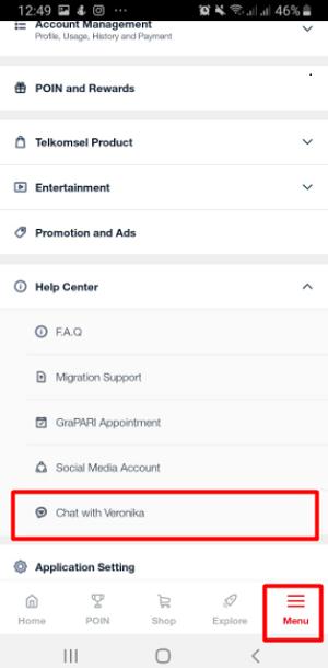 Cara Tanya Veronika Asisten Virtual Telkomsel Via Aplikasi MyTelkomsel