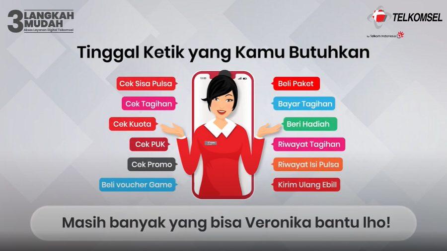 Bantuan yang diberikan oleh Veronika Asisten Virtual Telkomsel