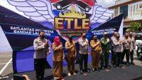 Polda Lampung saat meluncurkan ELTE