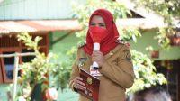 Eva Dwiana Wali Kota Bandar Lampung menghadiri serah terima beduk di Masjid Al-Wahyu