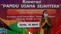 GKR Mangkubumi Memberikan sambutan saat meresmikan koperasi Pandu Usaha Sejahtera
