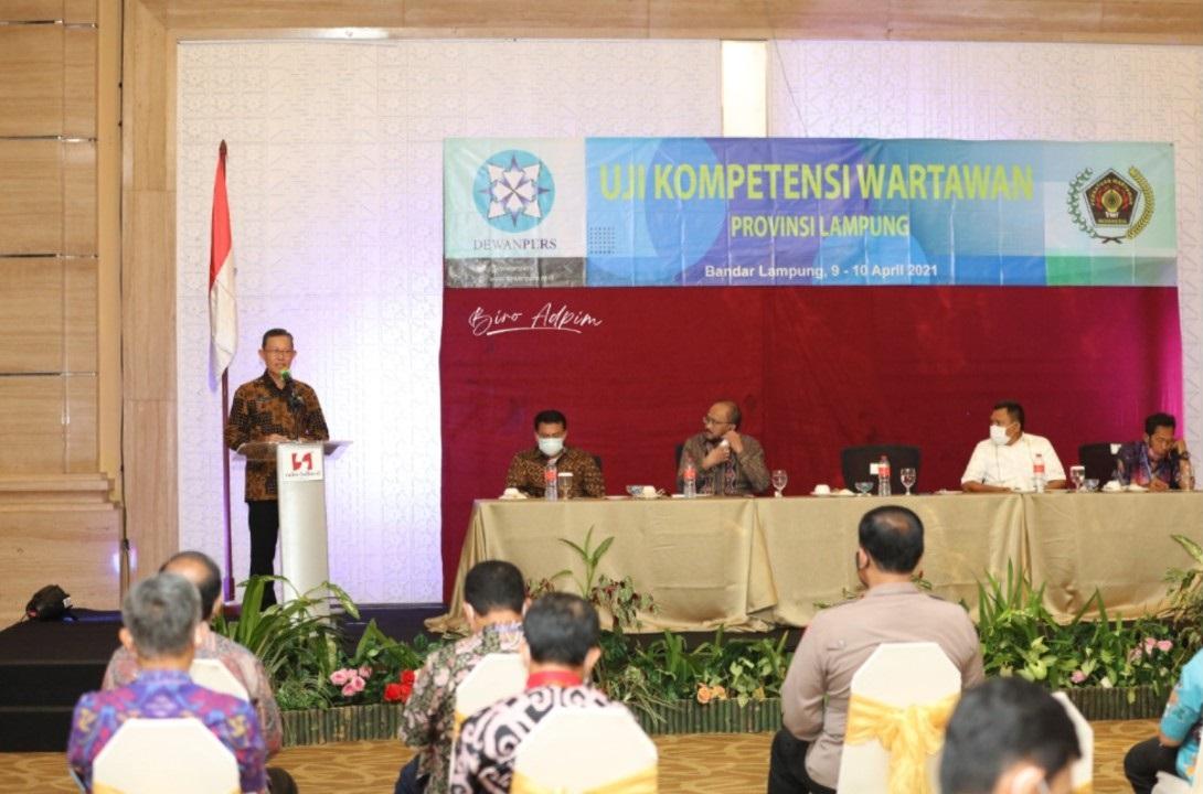 Pemerintah Provinsi Lampung apresiasi Uji Kompetensi Wartawan untuk mewujudkan wartawan yang kompeten dan profesional