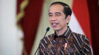 Presiden Joko Widodo saat menyampaikan sambutan secara virtual dalam peringatan Hari Penyiaran Nasional ke-88