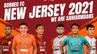 Seragam baru Borneo FC