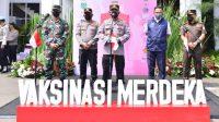 Kapolri Jenderal Listyo Sigit Prabowo saat sampaikan strategi vaksinasi massal capai 70 persen
