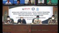 Kegiatan Sosialisasikan Sertifikasi Halal secara virtual dari Pondok Pesantren Bahrul Ulum Tambakberas Jombang