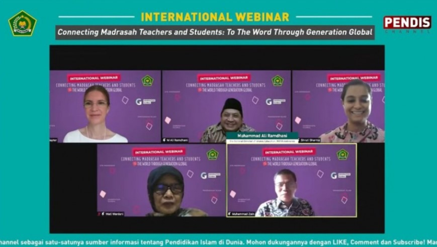Kegiatan webinar Internasional Kementerian Agama untuk Guru Madrasah