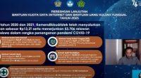 Mendikbud Ristek Nadiem Makarim saat menyampaikan bantuan kuota data internet dan bantuan UKT tahun 2021