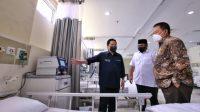 Menteri BUMN, Menteri Agama dan Gubernur Lampung meninjau Rs Darurat Covid-19 di Asrama Haji Lampung