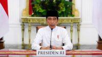 Presiden Joko Widodo dalam sambutannya pada peringatan Tahun Baru Islam 1 Muharram 1443 Hijriah
