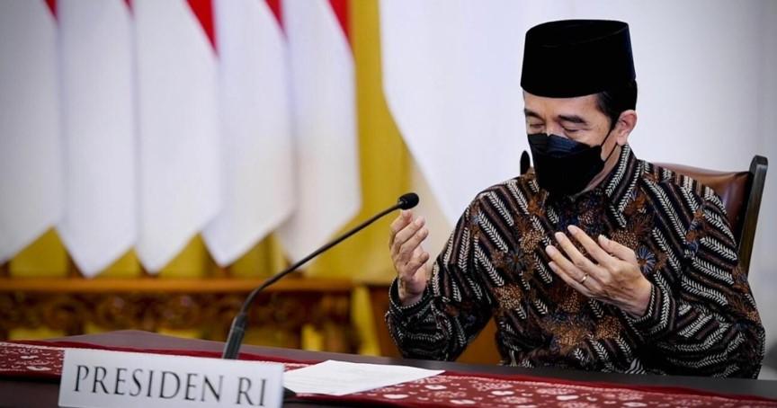 Presiden Joko Widodo menghadiri acara Zikir dan Doa Kebangsaan 76 Tahun Indonesia Merdeka