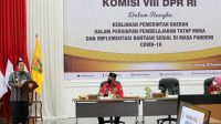 Gubernur Lampung Arinal Djunaidi menerima kunjungan kerja spesifik Komisi VIII DPR-RI ke Provinsi Lampung