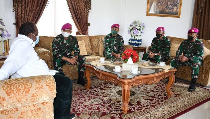 Komandan Pasmar 3 Mengunjungi Bupati Sorong