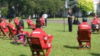Presiden Joko Widodo menerima kontingen Indonesia di Istana Kepresidenan Bogor