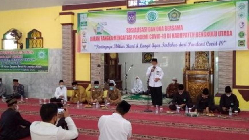 Sosialisasi dan Doa Bersama Dalam Rangka Mengatasi Pandemi Covid-19 di Kabupaten Bengkulu Utara