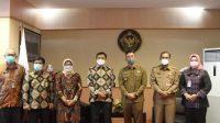 Wakil Gubernur Banten Andika Hazrumy menyempatkan diri menyambangi kedua pejabat BPK RI tersebut di kantor mereka usai acara Sertijab