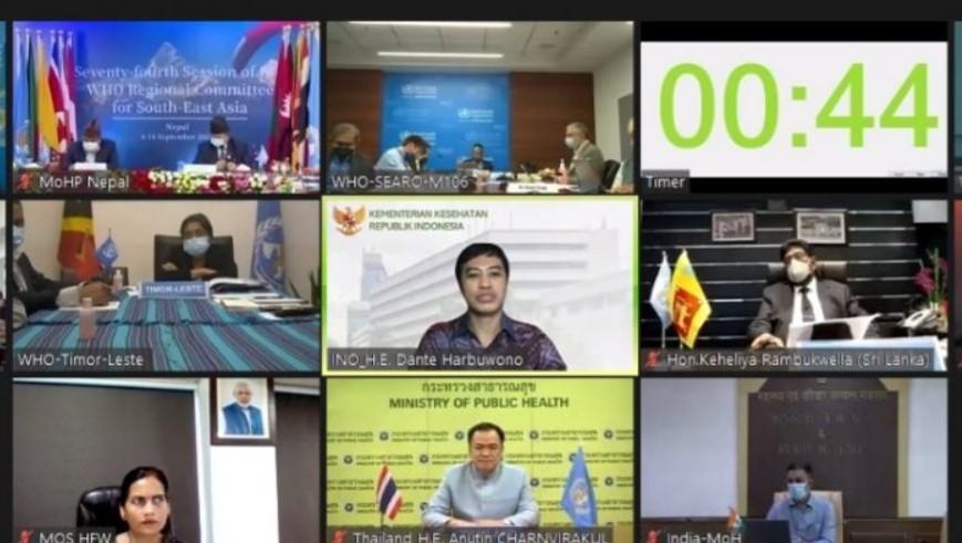 Wakil Menteri Kesehatan RI memimpin delegasi Indonesia pada sidang WHO Regional Committee for South-East Asia (RC) ke-74