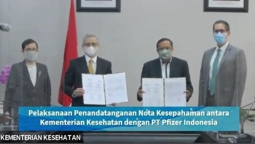 Penandatanganan Nota Kesepahaman antara Kementerian Kesehatan dan PT Pfizer Indonesia