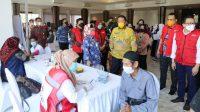 vaksinasi Covid-19 yang digelar PMI Lampung